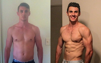 James Before and After Using Isagenix