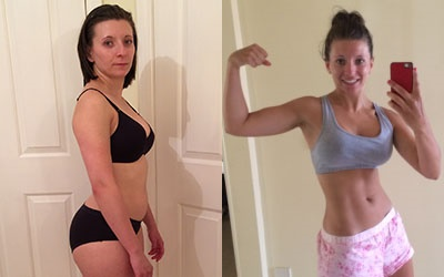 Stef Before and After Using Isagenix