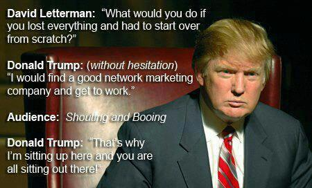 Donald Trump on Network Marketing