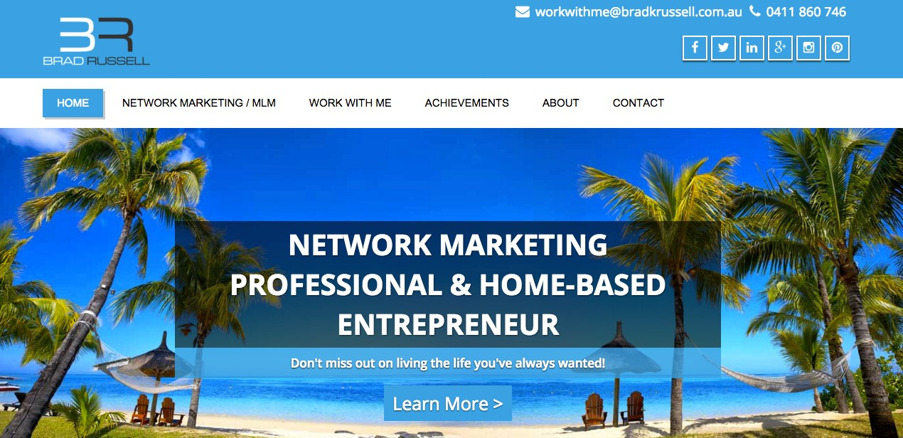 New Brad Russell Website