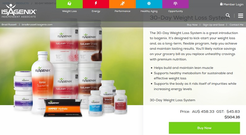 Isagenix Website