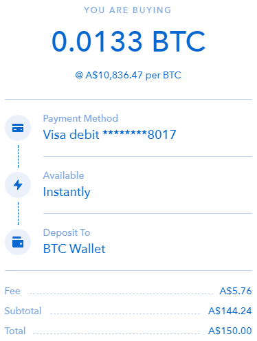 Check cryptocurrency payment details
