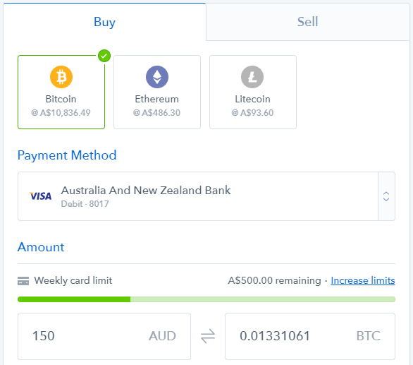 Buy and Sell Bitcoin on Coinbase