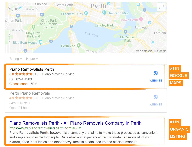 Local SEO search results