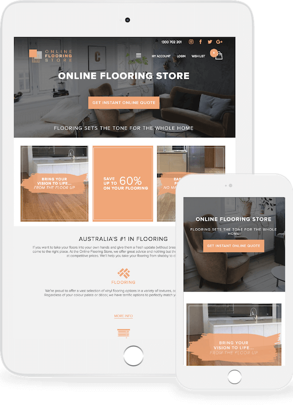 Online Flooring Store on mobile and tablet